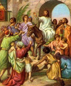 Jesus Enters Jerusalem on a Donkey Matthew 21:7-9